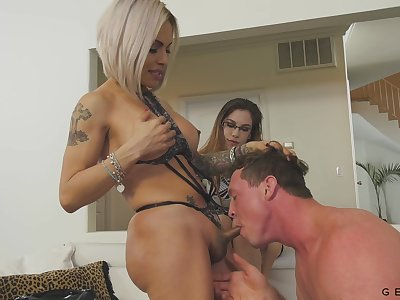 Wife's hot girlfriend snowy out to be a transsexual