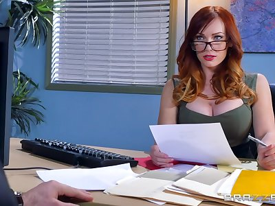 Great steadfast sex for the female boss in scenes of crazy XXX