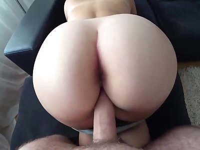 Ample booty gal is getting pulverized from the back plus liking every single 2nd be incumbent on it