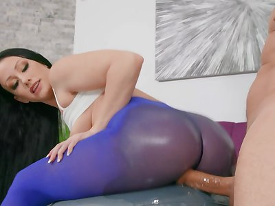Slaver deep anal sex ends with ass to mouth for harmful Jennifer White