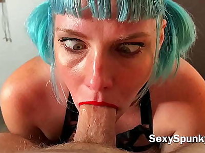 Naughty Maid Cleans Client's Dick with The brush Mouth, Tits plus Pussy
