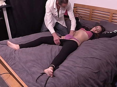 Petite Girl Be a member of The Bed, Has Clothes Cut Off and Gets Fucked Constant By Experienced Guy With Big Cock