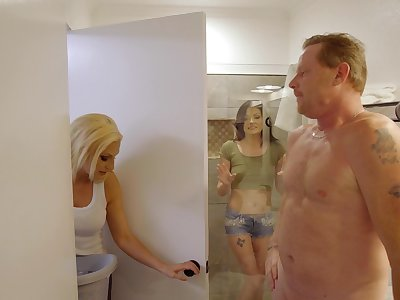 Young subfusc fucks with her mom's new boyfriend
