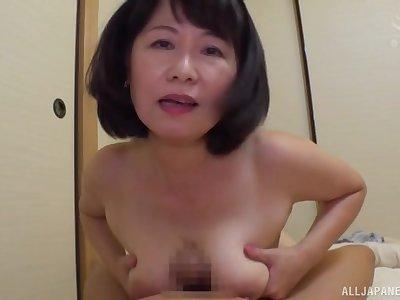 Closeup video of amateur wife Kanasugi Rio riding a stiff dick