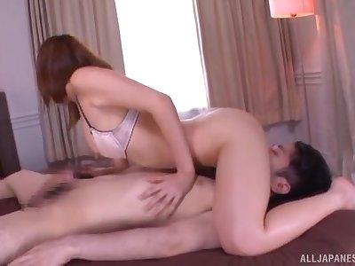 Exclusive home porn with Okazaki Emiri on a big dick