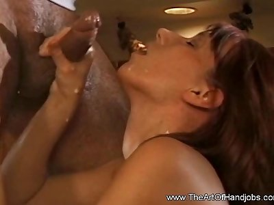 Horny Mom Jerking Off Happy BF And Cumshot