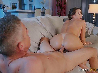 Abigail Mac blowing a stranger's blarney before and check tick off hard sex