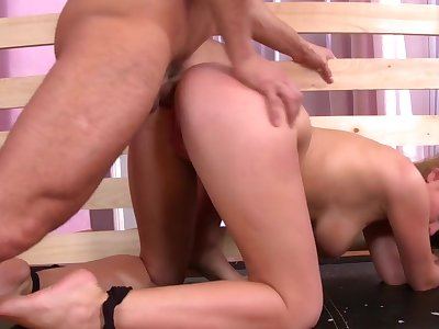Superb bedroom fetish porn for a busty amateur girl