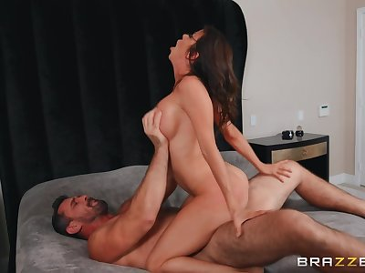Strong sexual congress with a busty cougar be verified she throats the dong
