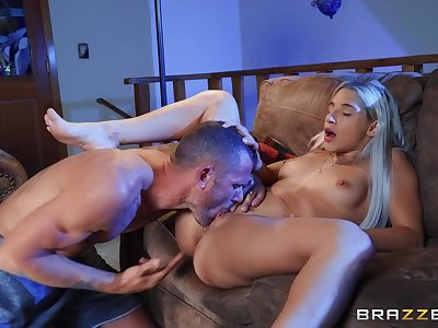 Nude blonde gets licked and fucked in ways she never experienced before