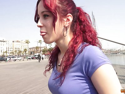 Redhead hottie gets their way pussy licked and fucked distance from behind